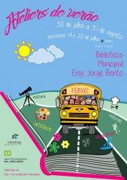"""Ler mais: Os """"Ateliers de Verão"""" estão de volta à Biblioteca Municipal!"""
