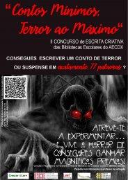"""Ler mais: II Concurso de Escrita Criativa """"Contos Mínimos, Terror ao Máximo"""""""