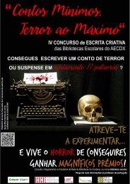 """Ler mais: IV Concurso de Escrita Criativa """"Contos Mínimos, Terror ao Máximo"""""""